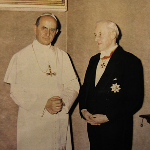 Frank Duff with Pope Paul VI